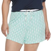 Plus Size SONOMA Goods for Life™ Printed Pajama Shorts