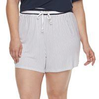Plus Size SONOMA Goods for Life™ Printed Pajama Shorts