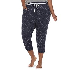 Plus Size SONOMA Goods for Life™ Diamond Print Jogger Capris