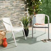 Safavieh Indoor / Outdoor Stacking Wicker Arm Chair 2-piece Set