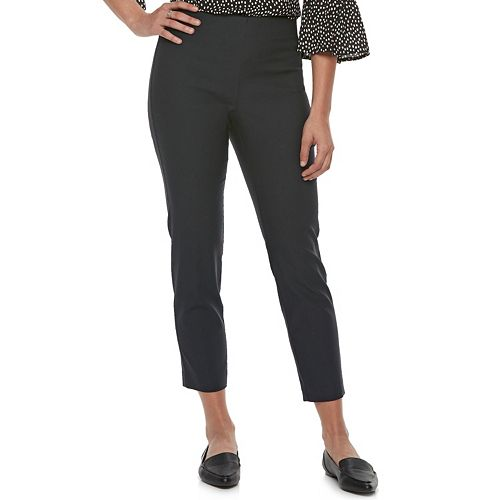 Women's ELLE™ Pull-On Skinny Fit Ankle Dress Pants