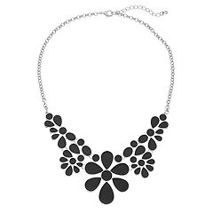 Floral Enamel Statement Necklace
