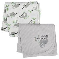 Just Born 2-pack Thermal Owl Swaddle Blankets