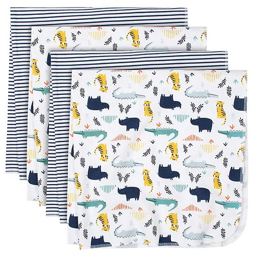 Just Born® 4-pack Flannel Lions Swaddle Blankets