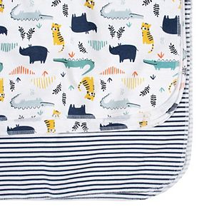 Just Born 4-pack Flannel Lions Swaddle Blankets