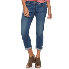 Petite SONOMA Goods for Life™ Supersoft Cuffed Capri Jeans