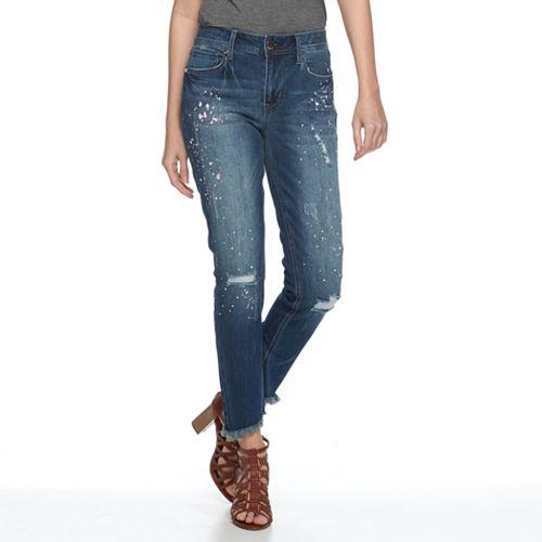 Women's Seven7 Paint Splatter Skinny Ankle Jeans
