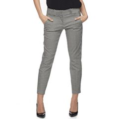 Juniors' Candie's® Audrey Gingham Low Rise Ankle Pants