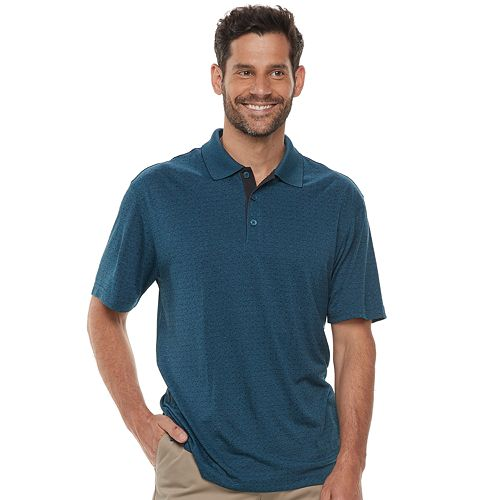 Haggar Cool 18 Regular Fit Performance Micro Square Polo