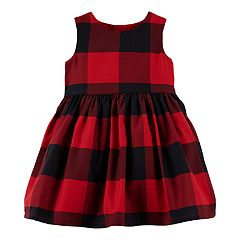 Baby Girl Carter's Plaid Bow-Back Dress