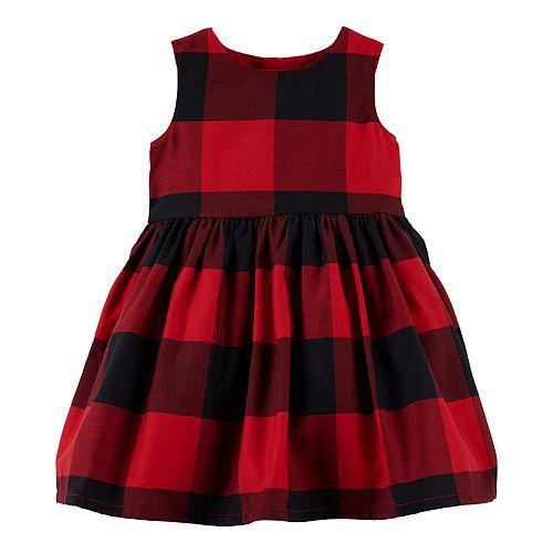 Baby Girl Carter's Plaid Bow-Back Dress