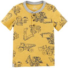 Toddler Boy Carter's Construction Trucks Henley Top