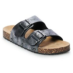 Mudd® Women's Double Buckle Slide Sandals