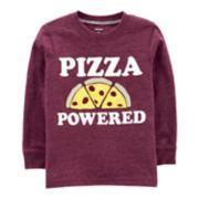 "Toddler Boy Carter's ""Pizza Powered"" Applique Tee"