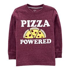 Toddler Boy Carter's 'Pizza Powered' Applique Tee