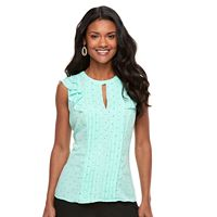 Women's ELLE™ Pintuck Ruffle Top