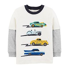 Toddler Boy Carter's Cars Mock Layer Graphic Tee