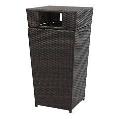 Safavieh Indoor / Outdoor Open Top 18 Gallon Wicker Trash Bin