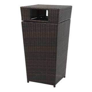 Safavieh Indoor / Outdoor Open Top 18 Gallon Wicker Trash Bin