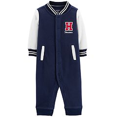 Baby Boy Carter's 'H Handsome' Varsity Fleece Coverall