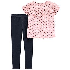 Girls 4-8 Carter's Dog Top & Jeggings Set