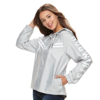 Juniors' Hogwarts Hooded Windbreaker Jacket