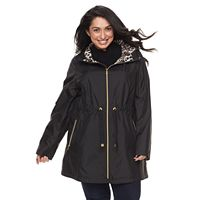 Plus Size Gallery Hooded Packable Rain Jacket