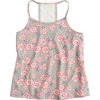 Girls 7-16 & Plus Size SO® Printed Crochet Tank