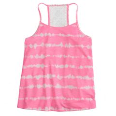 Girls 7-16 & Plus Size SO® Printed Crochet Tank