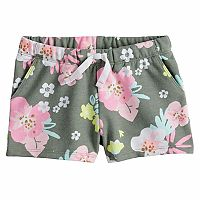 Toddler Girl Jumping Beans® Floral Glitter Shorts