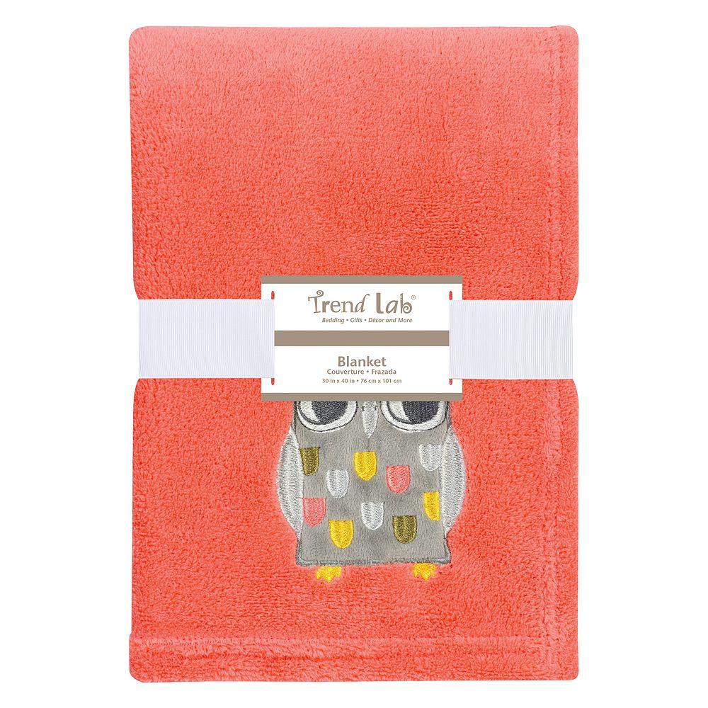 Trend Lab Owl Plush Baby Blanket
