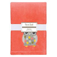 Trend Lab Owl Plush Baby Blanket