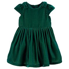 Baby Girl Carter's Bow Velvet Dress