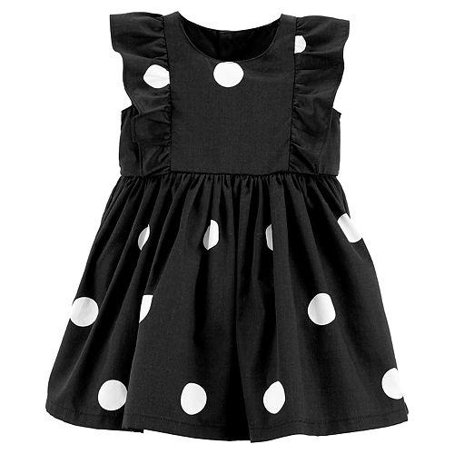 Baby Girl Carter's Ruffle Front Polka Dot Dress