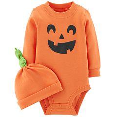 Baby Carter's Jack-o'-lantern Bodysuit & Cap Set