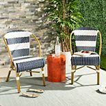 Safavieh Indoor / Outdoor Striped Stacking Bistro Chair 2-piece Set