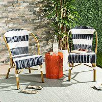 Safavieh Indoor / Outdoor Striped Stacking Bistro Chair 2 pc Set