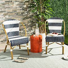 Safavieh Indoor / Outdoor Striped Stacking Bistro Chair 2-piece Set