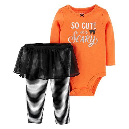 Baby Girl Carter's Cute & Scary Bodysuit & Tutu Set