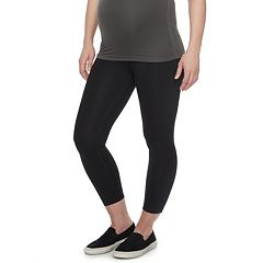 Maternity a:glow Full Belly Panel Shapewear Capri Leggings
