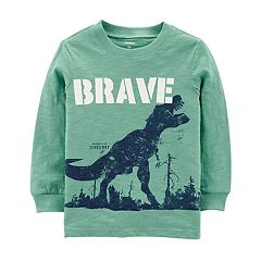 Toddler Boy Carter's 'Brave' Dinosaur Slubbed Graphic Tee