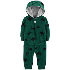Baby Boy Carter's Dinosaur Fleece Hooded Coverall