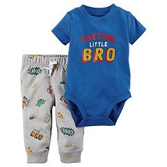 Baby Boy Carter's Graphic Bodysuit & Print Pants Set