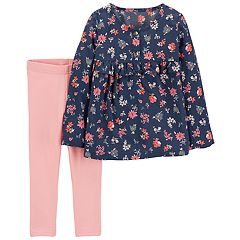 Toddler Girl Carter's Floral Top & Leggings Set