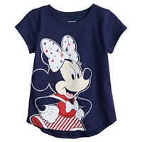 Disney's Minnie Mouse Baby Girl Patriotic Graphic Tee by Jumping Beans®