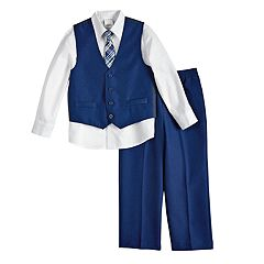 Boys 4-12 Van Heusen Poplin 4 pc Vest Set