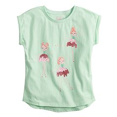Girls 4-10 Jumping Beans® High-Low Roll Cuff Dolman Tee