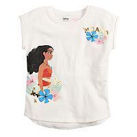 Disney's Moana Girls 4-10 High-Low Roll Cuff Dolman Tee by Jumping Beans®