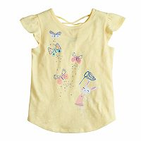 Girls 4-10 Jumping Beans® Graphic Crisscross Back Slubbed Tee
