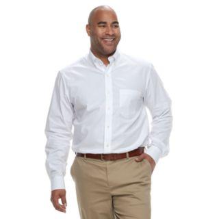 Big & Tall IZOD Premium Essentials Classic-Fit Button-Down Shirt